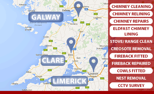 We line chimney with Eldfast Chimney Lining in Clare, Limerick and Galway. Call Cathal Rooney on 0873890670.